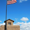 Old Glory flies over the fort's central tower.