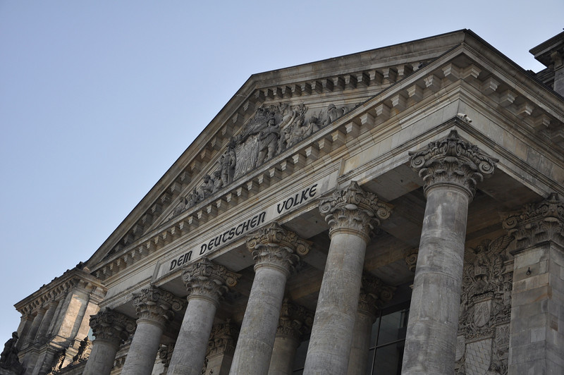 The portico of The Reichstag