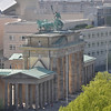 The Brandenburg Gate from the Reichstag roof.