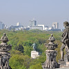 The Soviet War memorial in the centre of the picture.