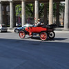 A German taking his vintage vehicle for a spin on Museum Island.