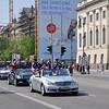The ice hockey team Eisbären Berlin with their victory parade on Unter den Linden.