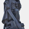 The focal point of the memorial, the 12m tall Soviet soldier smashing the swastika, whilst carrying a child.