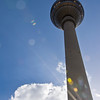 View of the Fernsehturm from Alexanderplatz