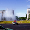 Fountain at the roundabout on Karl-Marx-Allee