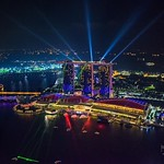 """Marina Bay Sands Light Show at Night"""