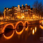 """Along the Canals in Amsterdam at Night""."