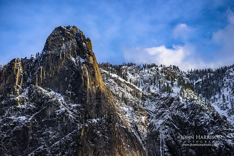 """Sentinel Rock in Winter in Yosemite National Park"""