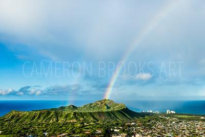 Double Rainbows on Diamond Head