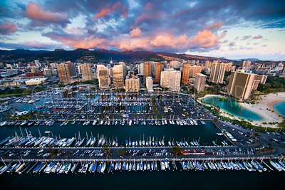 Ala Wai Harbor Sunset, 2014