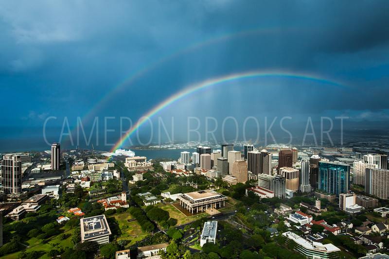 Downtown Honolulu Rainbows