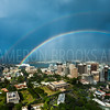 Double Rainbow over Downtown Honolulu