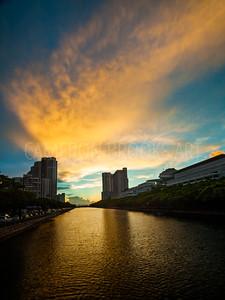 Ala Wai Canal Sunset