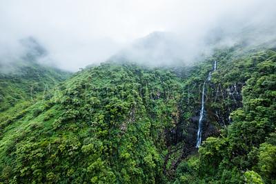 Waterfalls in the Mist