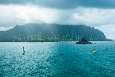 Sailboats at Kualoa