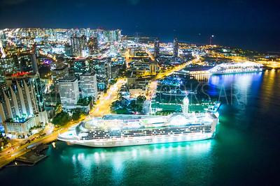 Honolulu Harbor Nightscape