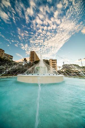 Kapiolani Park Fountain Epic Sunset