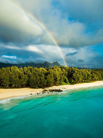 Rainbow over Olomana