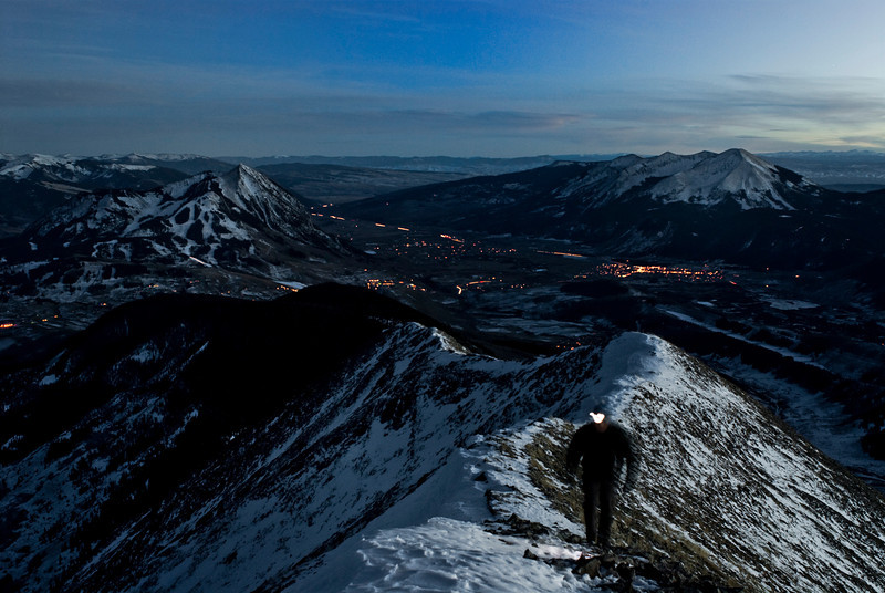 Nightfall on top of Gothic Mountain, Crested Butte.