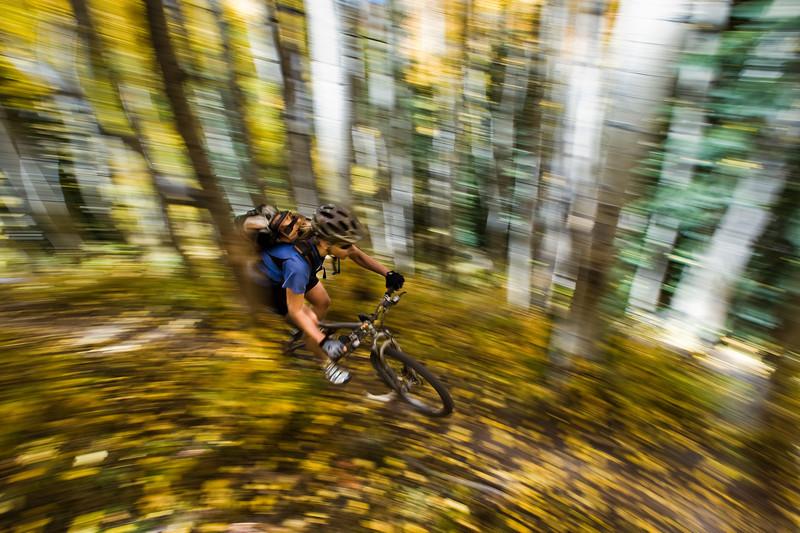 Karen Janssen getting the yellow spin.