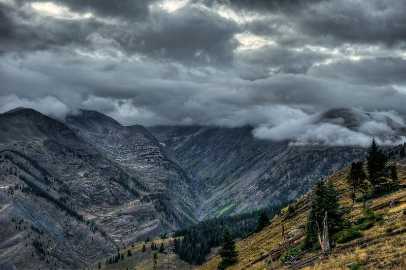 A fall storm brews on Paradise Divide.