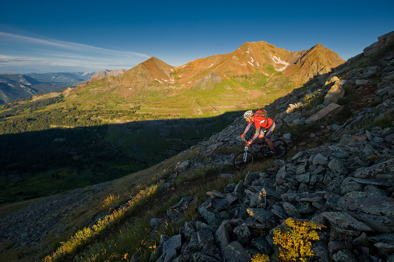 Rider Bryan Wickenhauser riding in the Crested Butte backcountry.
