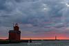 Holland lighthouse sunset