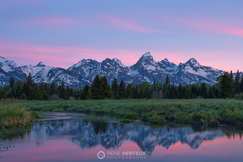 First light at the Tetons
