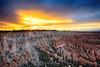 Fiery sunset, Bryce Canyon