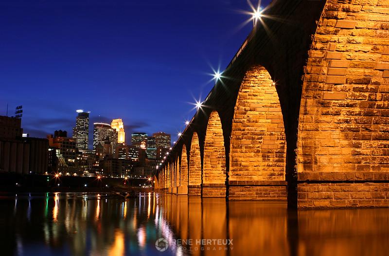 Stone arch bridge, Minneapolis MN