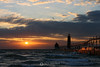 Grand Haven lighthouse sunet