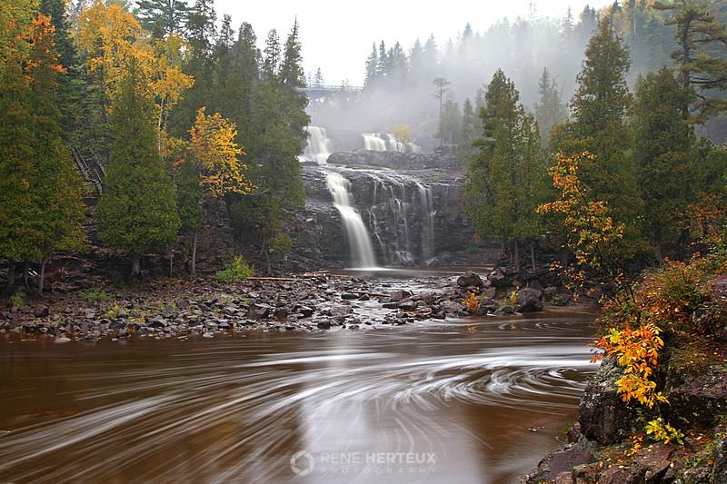 Foggy Gooseberry Falls