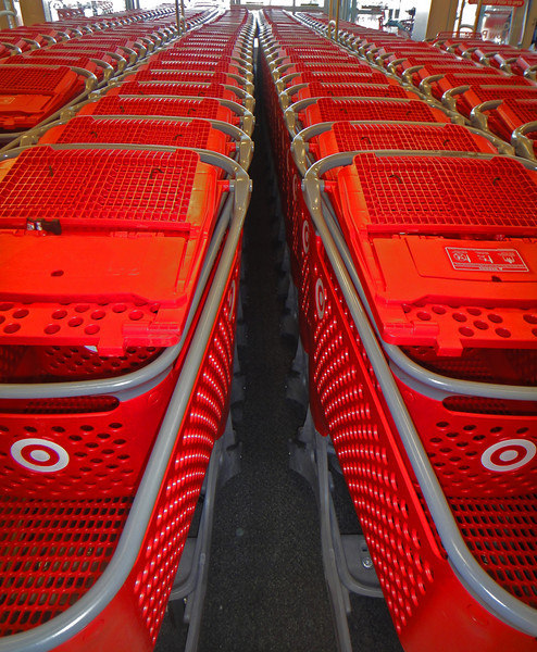 Target shopping carts.