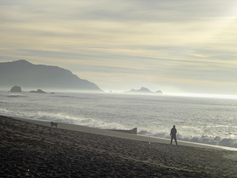 Sharp Park Beach in Pacifica, California.