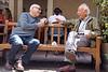 2 men I don't know at Peet's Coffee and Tea. Domingo Street, Berkeley.