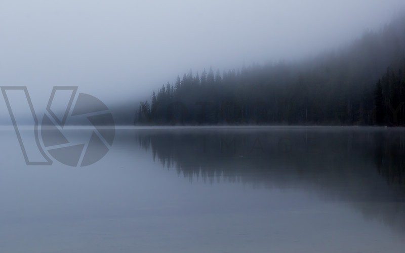 Morning Fog over Redfish Lake, Idaho