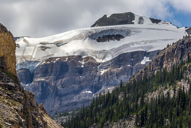 Massive Glacier Close to Bow Lake, Alberta, Canada