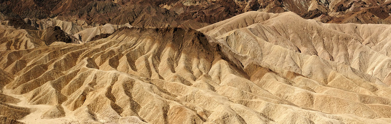 Zabriskie Point in moonlight