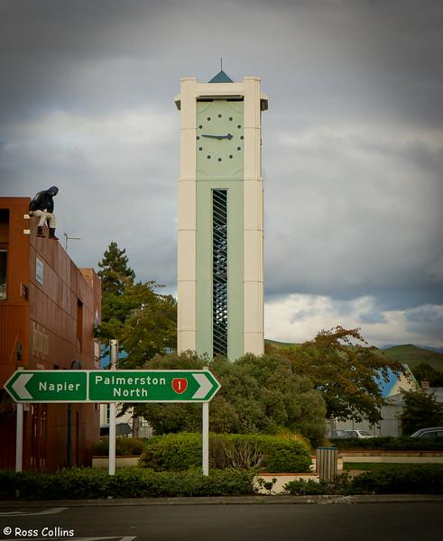 Clock tower, Taihape