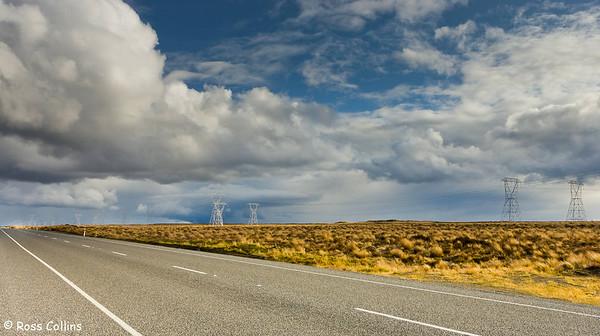Power transmission lines, Desert Road