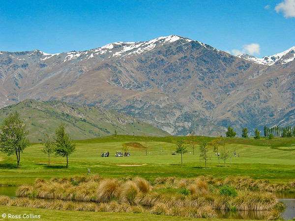 Millbrook golf course and the Remarkables, Arrowtown, Central Otago