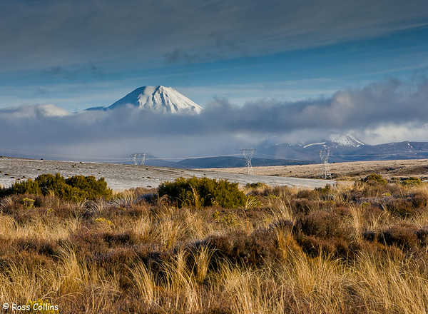 Mt Ngauruhoe from the Desert Road