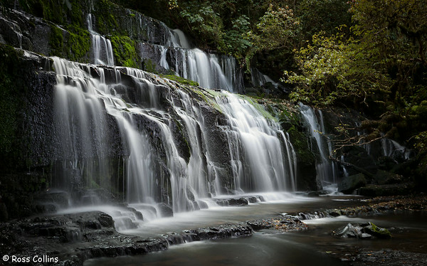 Purakaunui Falls, Catlins, South Otago/Southland, 25 April 2012