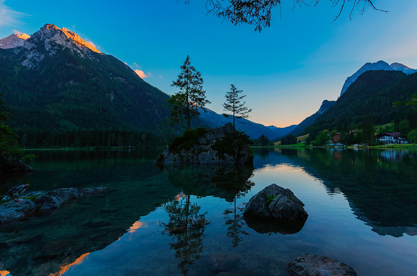 Hintersee Sun Setting