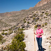 Paula along the Boquillas Canyon Trail with Her Mexican Walking Stick.