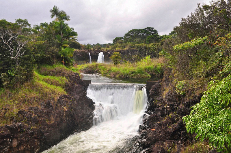 Wai'ale Falls, Wailuku River, Hilo, Hawaii