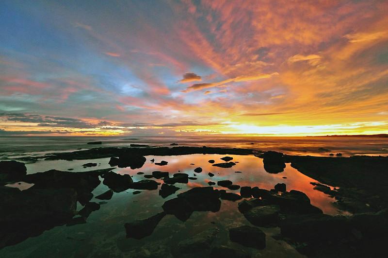 Old Airport Beach Sunset, Kona Coast, Big Island, Hawaii