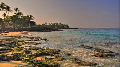 White Sands Beach a.k.a. Magic Sands; Disappearing Sands; La'aloa Bay Beach, Kailu-Kona, Hawaii