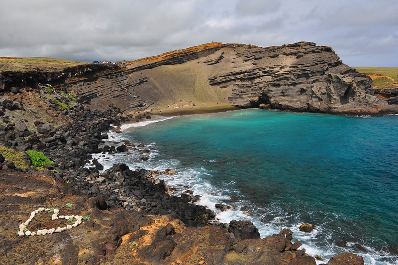 Green Sand Beach, Papakolea Beach, Big Island, Hawaii.