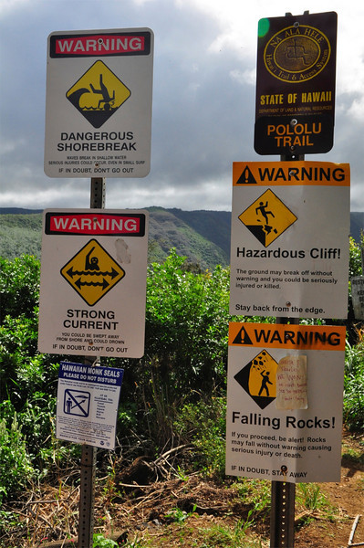 Pololu Valley Trailhead, North Kohala, Big Island, Hawaii